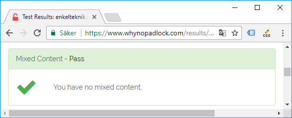 You have no mixed content - whynopadlock - Test