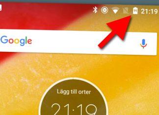Se batteri-procent på Android-telefon