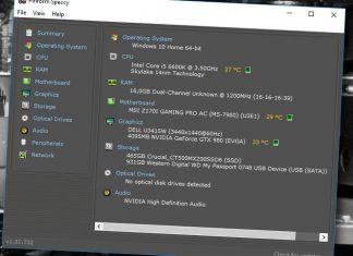 Se vilka komponenter och vilken mjukvara din dator innehåller