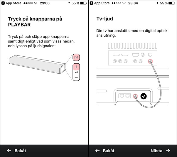 Installera Sonos Playbar - Sonos-appen