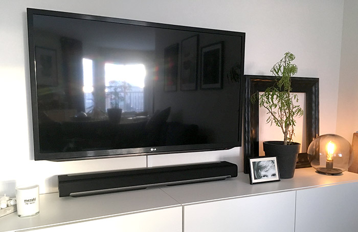 Sonos Playbar - Under TV - Plats - Bred