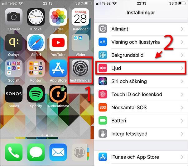 iPhone - iPad - Tangentbordsljud - Knappljud - Stäng av