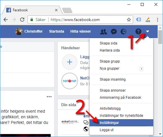 Facebook - Automatisk uppspelning av videor - klipp - filmer - Inställningar