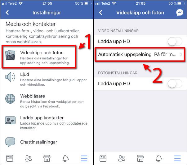 Facebook - Automatisk uppspelning av video-klipp - Filmer