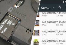 Bestäm att bilder och filmer automatiskt sparas på minneskortet