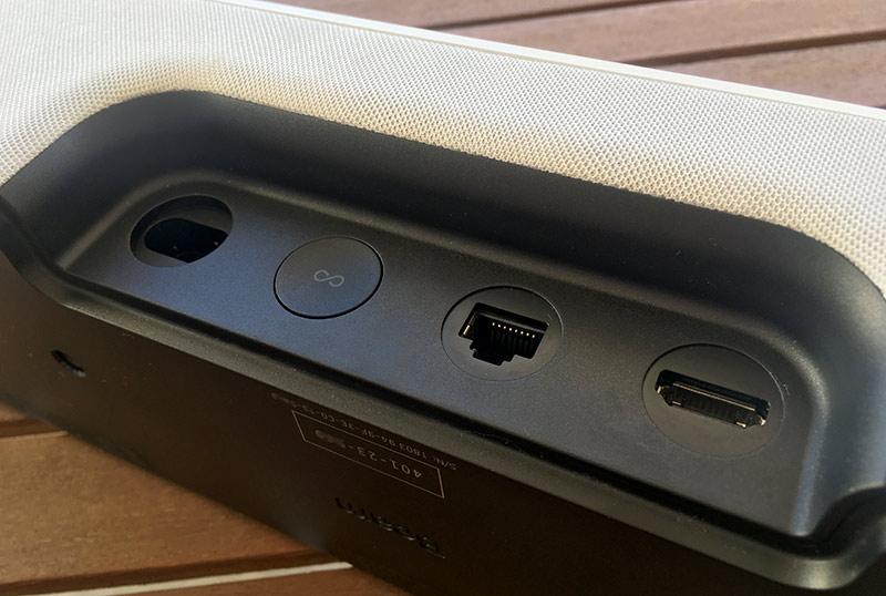 Sonos Beam - Baksida - Portar - HDMI - Nätverk