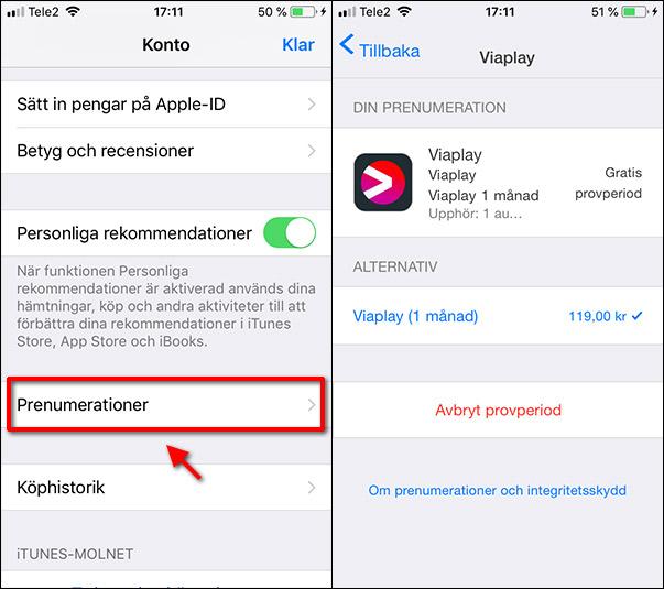 iPhone - iPad - Avsluta - Ta bort prenumerationer
