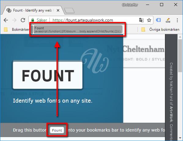 Lägg till Fount - Se typsnitt, font på hemsida