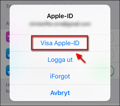 Visa Apple-ID - Avbryt prenumeration - iPhone - iPad