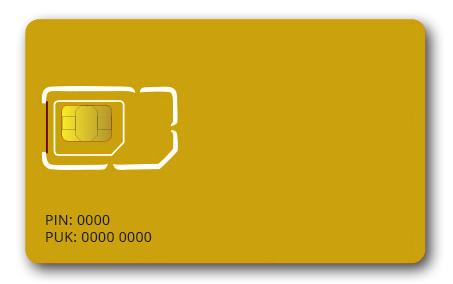 SIM-kort - PIN-kod - PUK-kod - På kortet