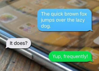 Varför är vissa SMS och meddelanden blå och gröna iPhone