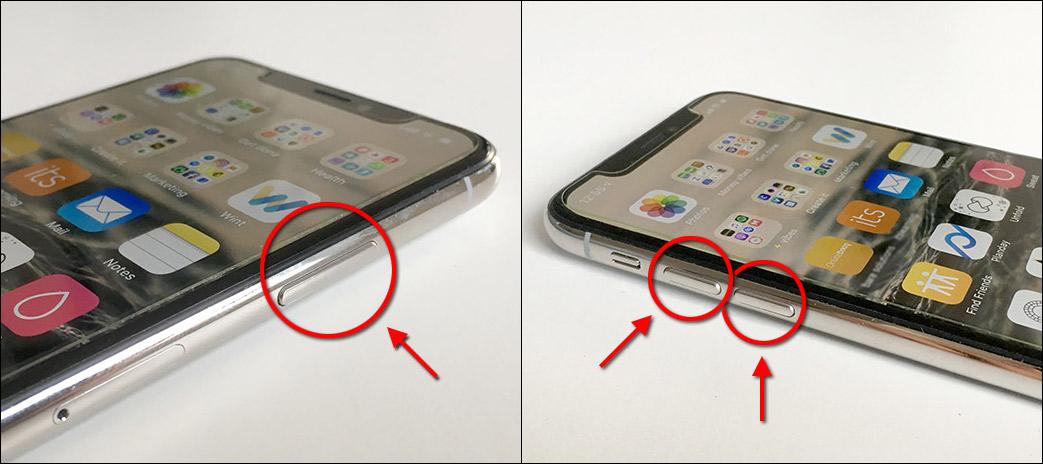Stäng av iPhone X - XS Max - XR - knappar
