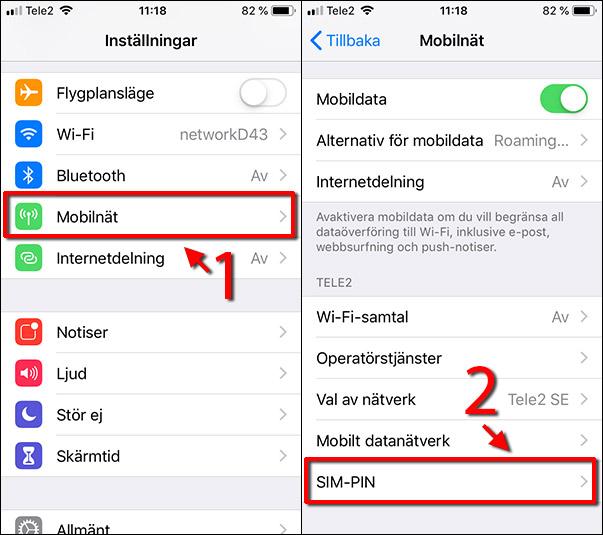 Ändra pinkod - iPhone - Mobilnät - SIM-PIN