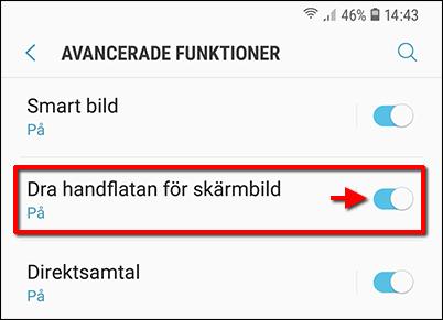 Dra handflatan för skärmbild - Samsung Galaxy S10 - Skärmdump