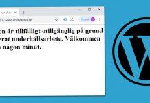 Webbplatsen är tillfälligt otillgänglig - Fixa - WordPress