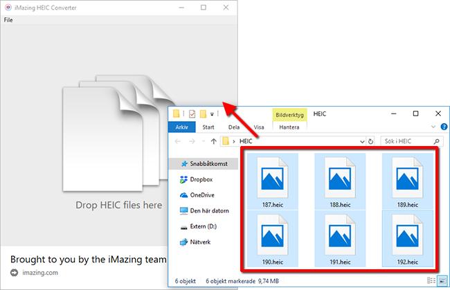 Konvertera - Gör om HEIC till JPEG - iPhone