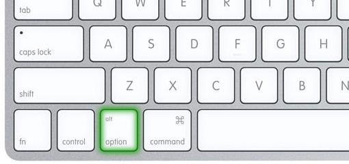 Mac - Alt - Option - Fler upplösningar - Alla