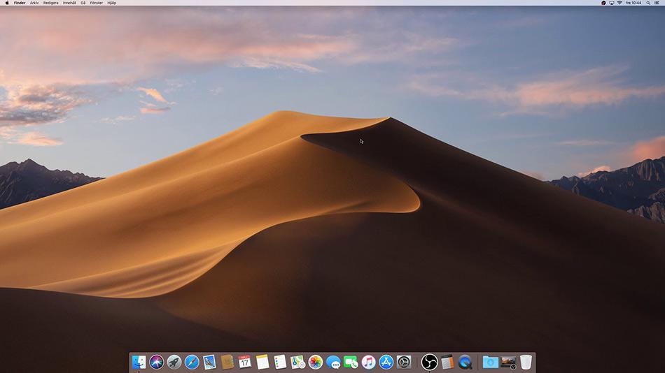 macOS - Apple - Grunderna - Skrivbordet - Dock