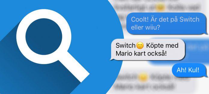Sök efter meddelande - iMessage - SMS på iPhone