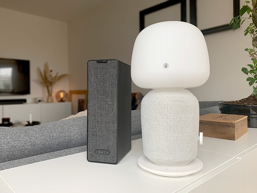 IKEA - Sonos - Symfonisk - Lampa - Bokhylla-högtalare