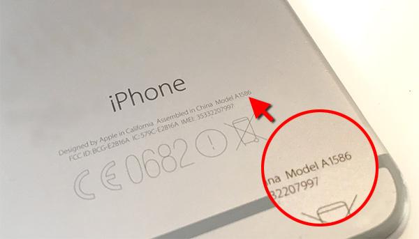 iPhone - Se modellnummer på baksidan
