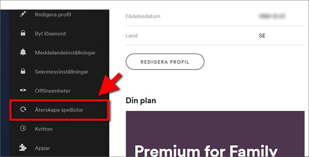 Spotify - Återskapa spellistor