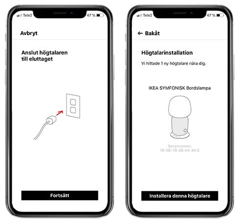 Symfonisk - Sonos app - Installation