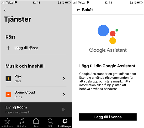 Google Assistent - Sonos One - Beam - Installation