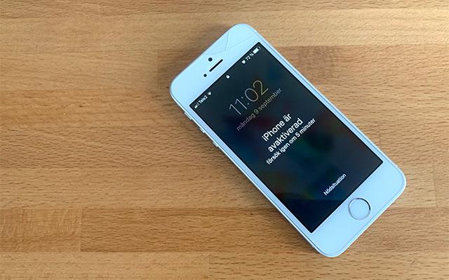 iPhone är avaktiverad - Anslut till iTunes