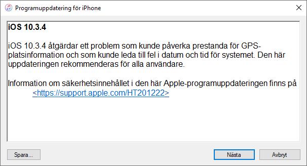 iTunes - Programuppdatering för iPhone - iPad