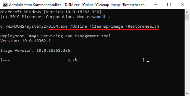Windows 10 - DISM.exe cleanup image