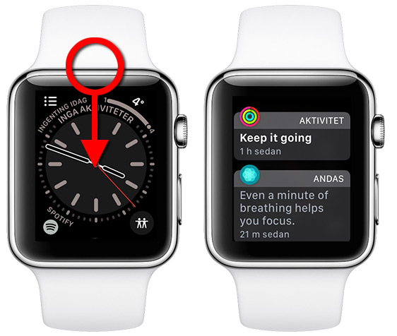 Apple Watch - Röd prick - Notifikationer