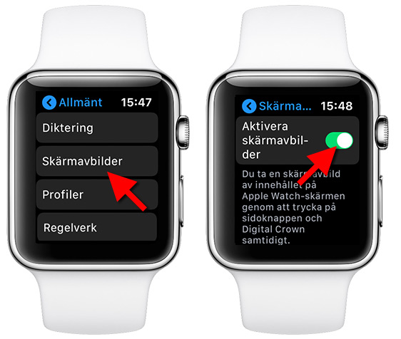 Apple Watch - Skärmavbilder - Skärmdump - Print Screen