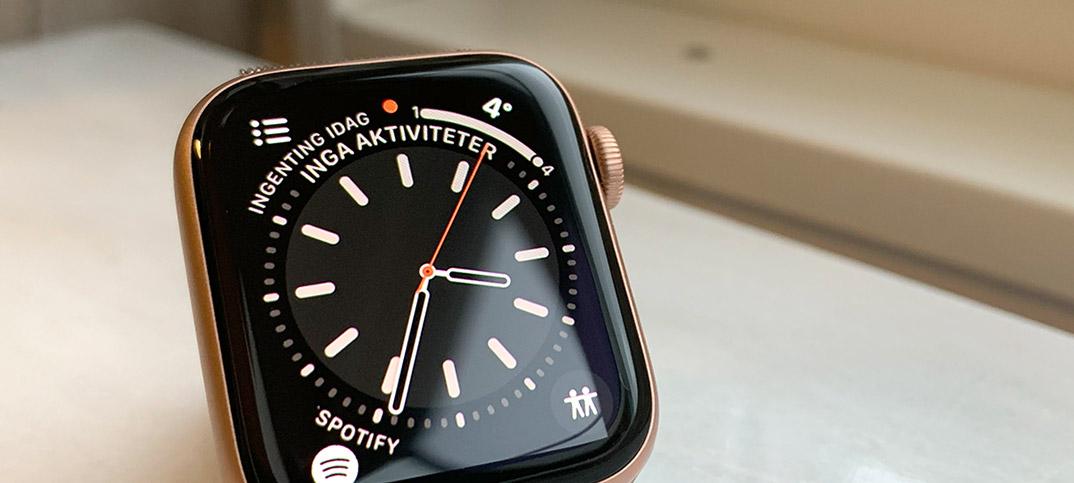 Vad är den röda pricken på Apple Watch för något