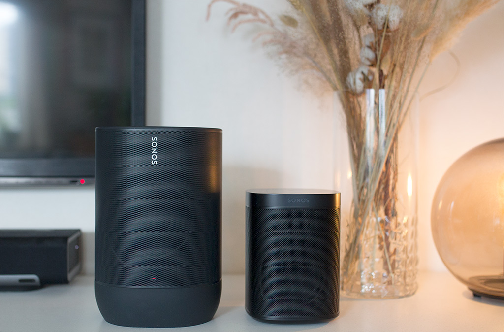 Sonos Move vs Sonos One - Storlek