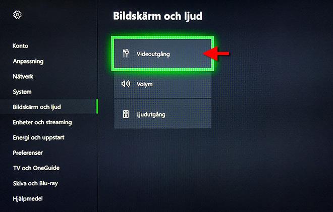 Xbox One - Bildskärm och ljud - Videoutgång