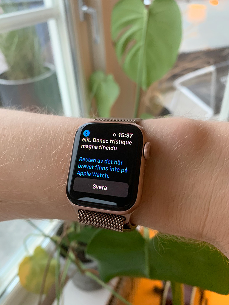 Resten av det här brevet finns inte på Apple Watch