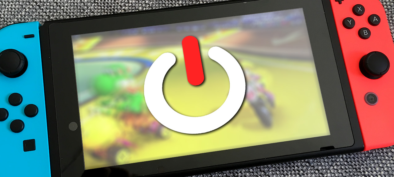 Stäng av Nintendo Switch helt