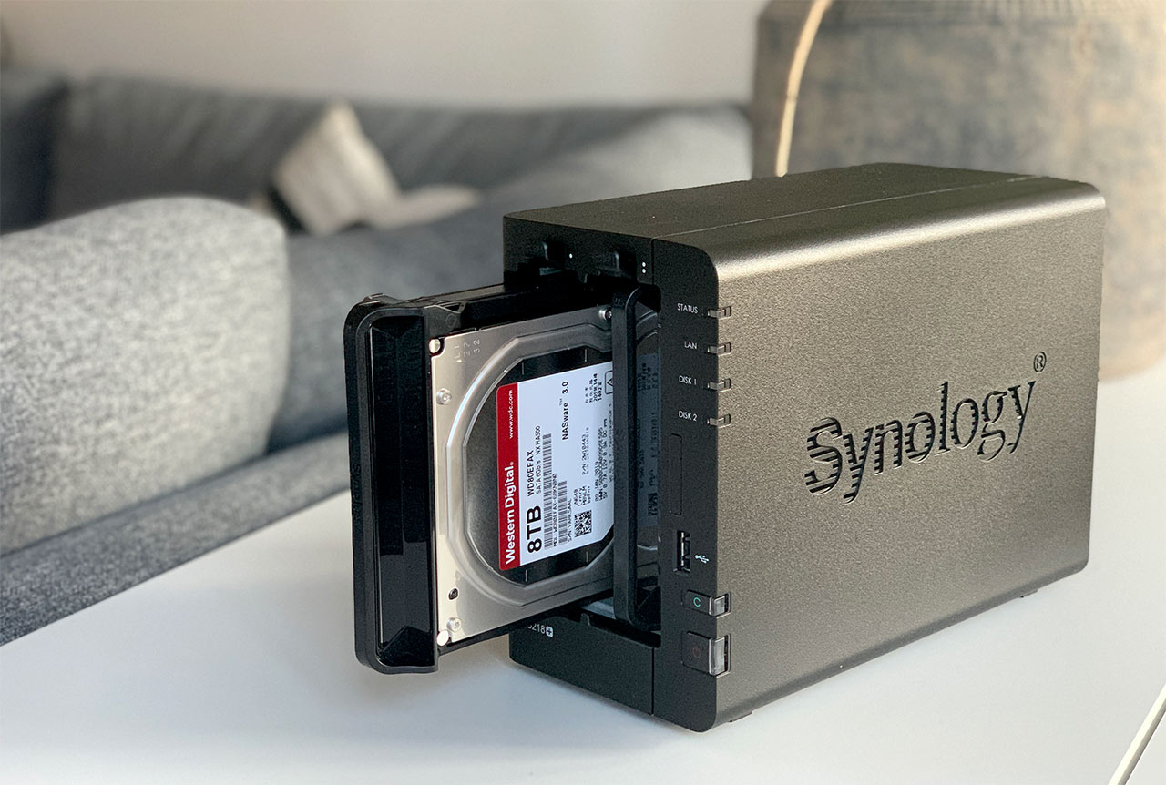 Synology DS218plus - Hårddiskar