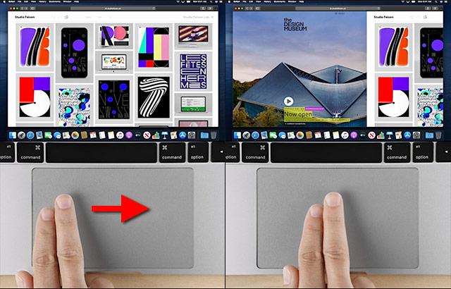 macOS - Bläddra mellan fönster - Webbläsare