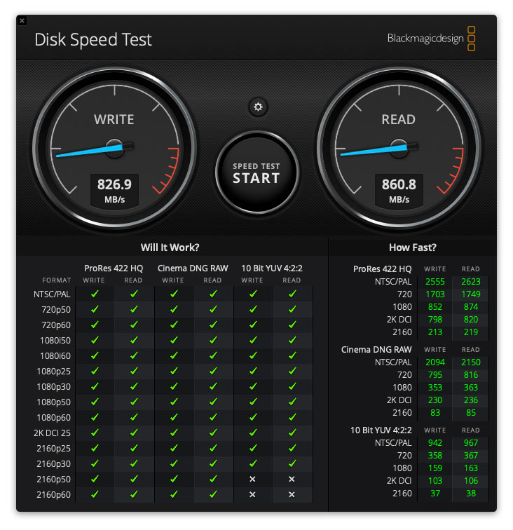 ADATA - SE800 - Disk Speed - Test - Hastighet