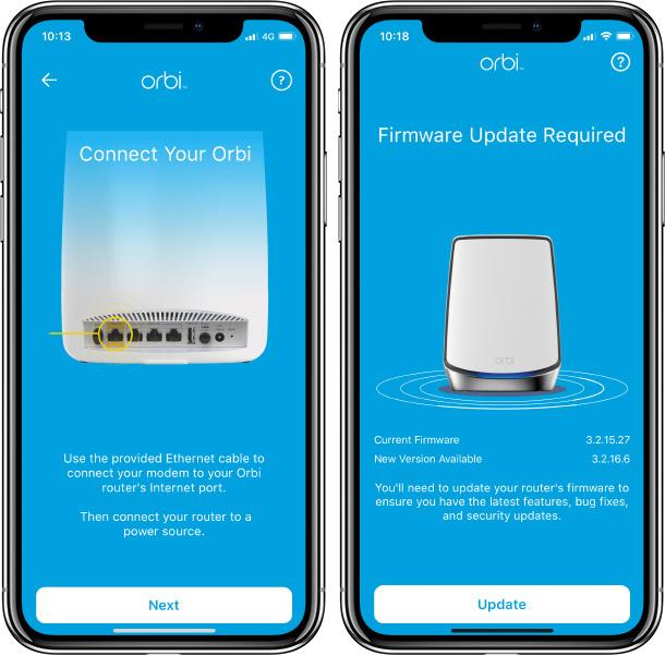 Netgear Orbi - Installation - App - iPhone