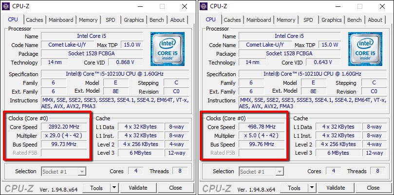 MSI Modern 15 - CPU-Z