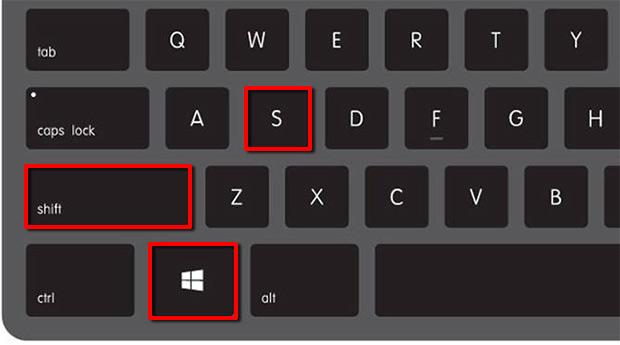 Windows-tangenten - Shift - S - Öppna Klipp och skissa