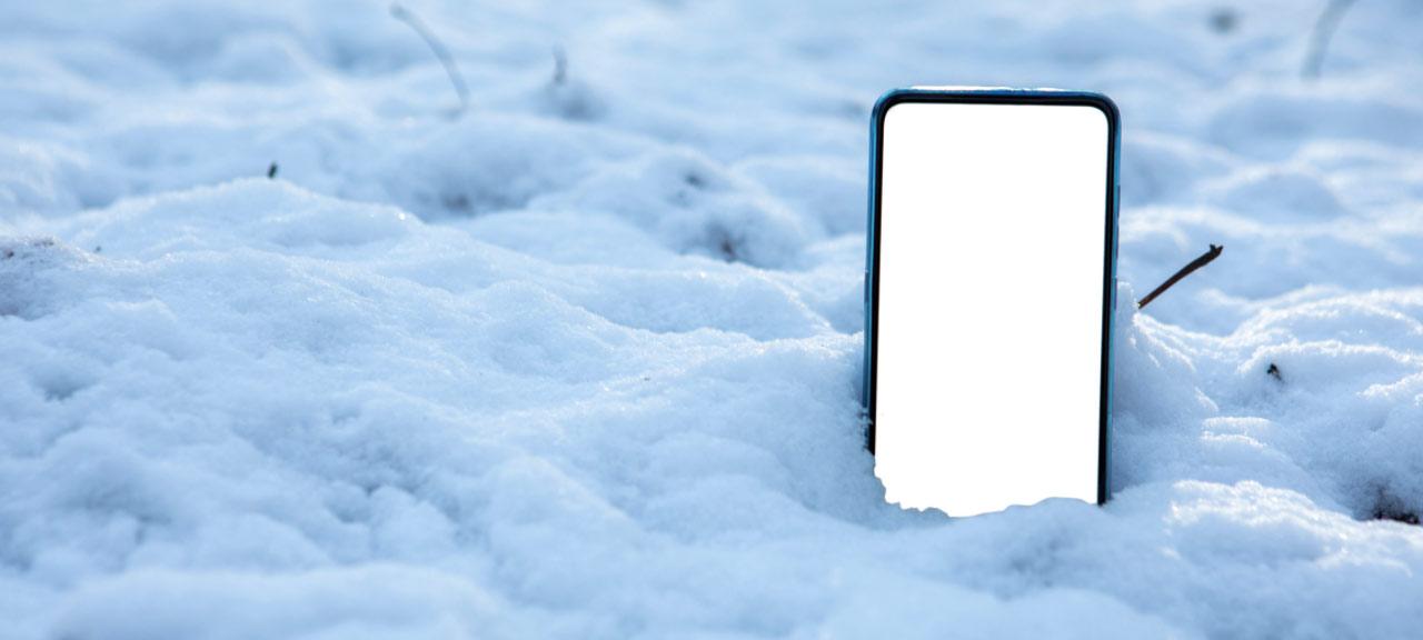 Varför dör telefonen (iPhone, Android) i minusgrader