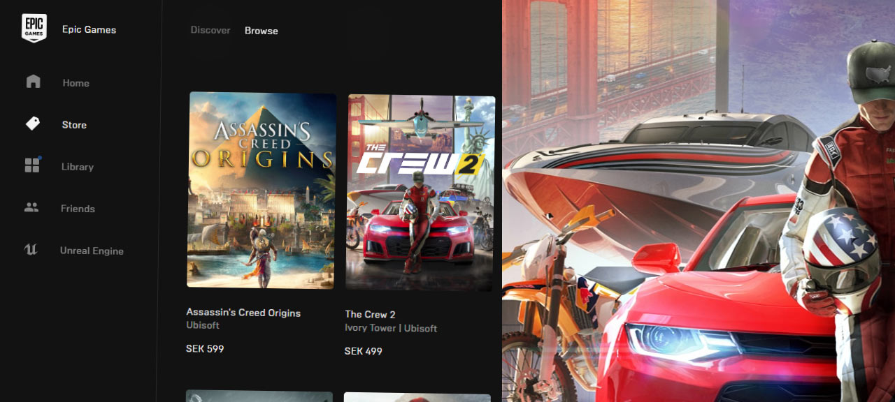 The Crew 2 startar inte - Epic Games Launcher