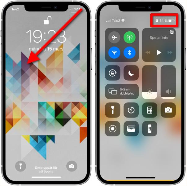 Se batteriets procent på iPhone 12, iPhone 11, iPhone XS
