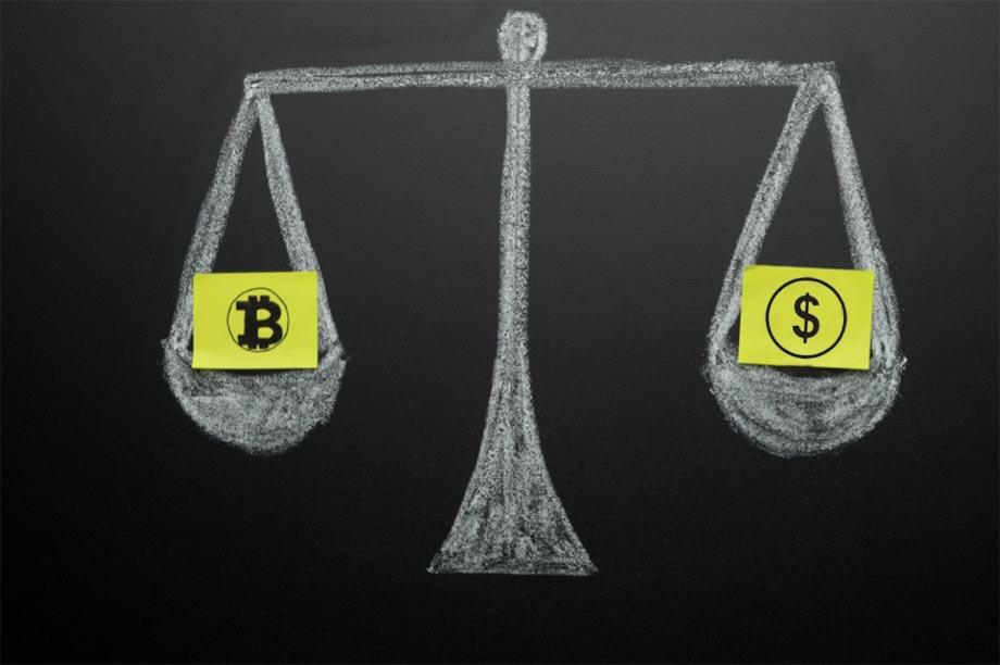 Bitcoin - Kryptovalutor - Värde - Dollar - Jämfört