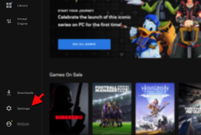 Epic Games - Settings - Nedladdningar - Hastighet - Begränsa