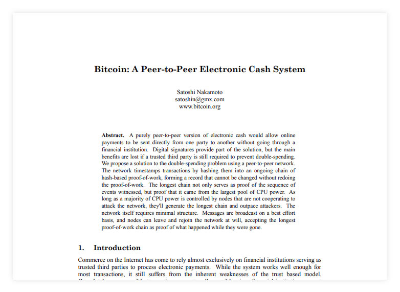 Bitcoin - White Paper - Utdrag